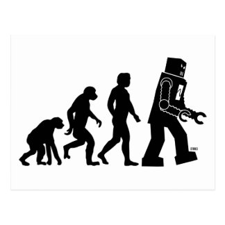 Postal de la evolución del robot