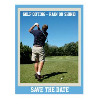 Postal de la excursión del golf