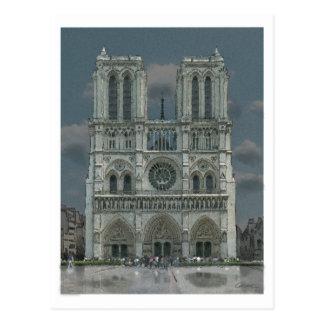 Postal de la fachada de Notre Dame