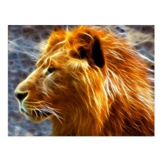 Postal de la fantasía del león