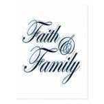 Postal de la fe y de la familia