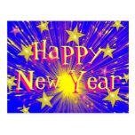"""Postal """"de la Feliz Año Nuevo"""" del fuego artificia"""