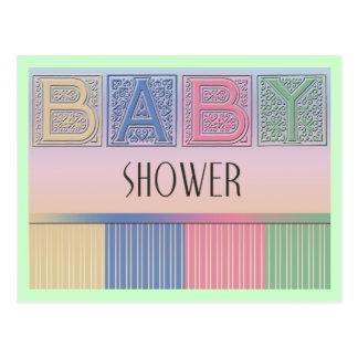 Postal de la fiesta de bienvenida al bebé