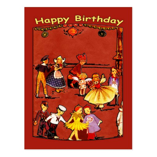 Postal de la fiesta del cumpleaños de los niños
