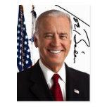 Postal de la firma de Joe Biden