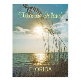 Postal de la Florida de la isla del tesoro