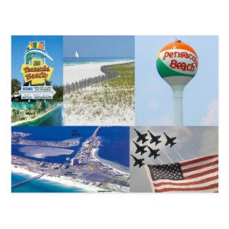 postal de la Florida de la playa de pensacola