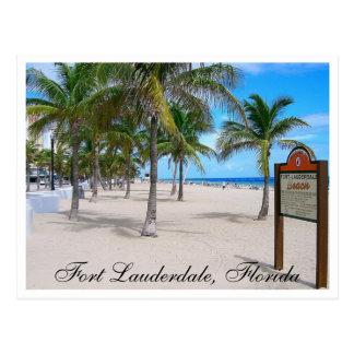 Postal de la Florida de la playa del Fort Lauderda