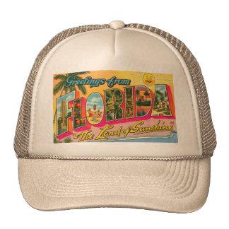 Postal de la Florida del vintage Gorras