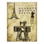 Postal de la forma del vestido de la torre Eiffel