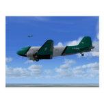 Postal de la formación DC-3 [BAV]