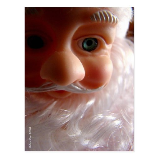 Postal de la foto de la barba de Santa de los salu