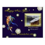 Postal de la foto de la Feliz Año Nuevo del univer