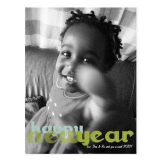 Postal de la foto de la Feliz Año Nuevo