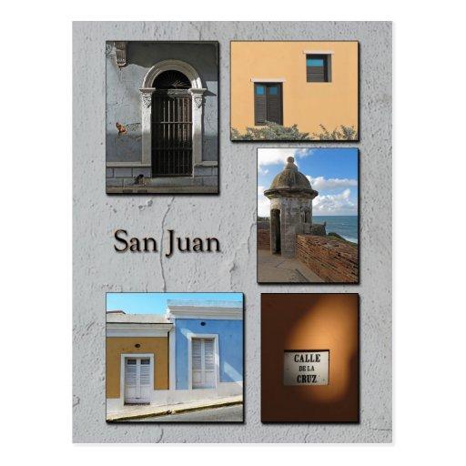 Postal de la foto de San Juan viejo, Puerto Rico