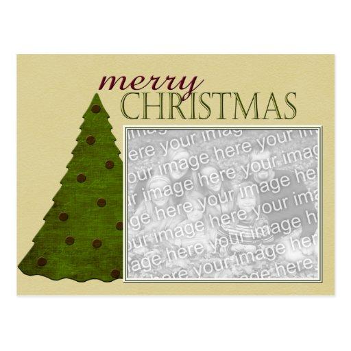Postal de la foto del árbol de navidad
