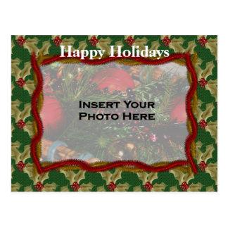 Postal de la foto del día de fiesta del navidad de