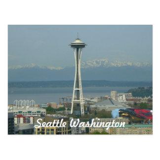 Postal de la foto del horizonte de Seattle