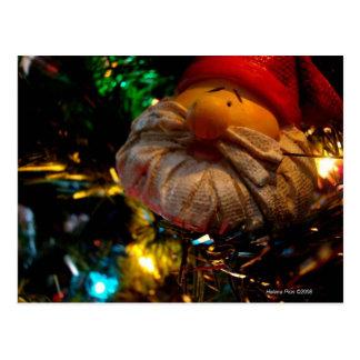 Postal de la foto del ornamento de Santa de los sa