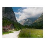 Postal de la foto del paisaje de la montaña. Eslov