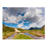 Postal de la foto del paisaje de la montaña. Franc