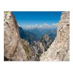 Postal de la foto del paisaje de la montaña. Itali