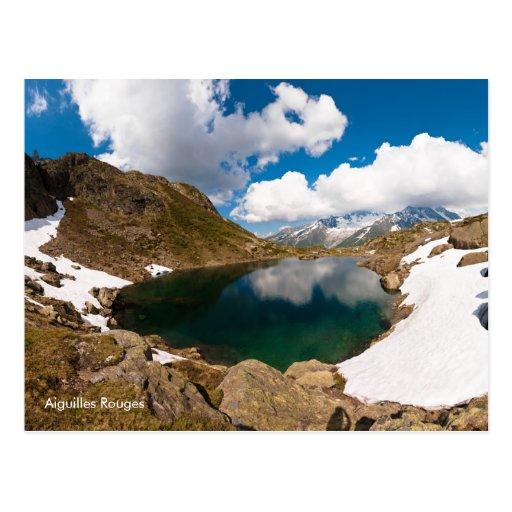 Postal de la foto del paisaje del lago mountain. F