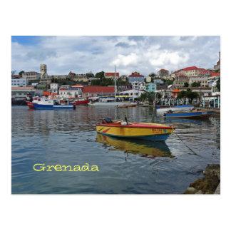 Postal de la foto del puerto de Grenada