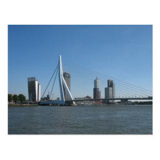 Postal de la foto del río del horizonte de Rotterd