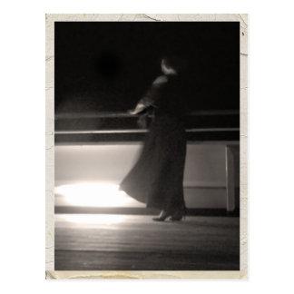 Postal de la foto del viaje por mar del vintage