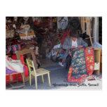 Postal de la fotografía del mercado de pulgas de J