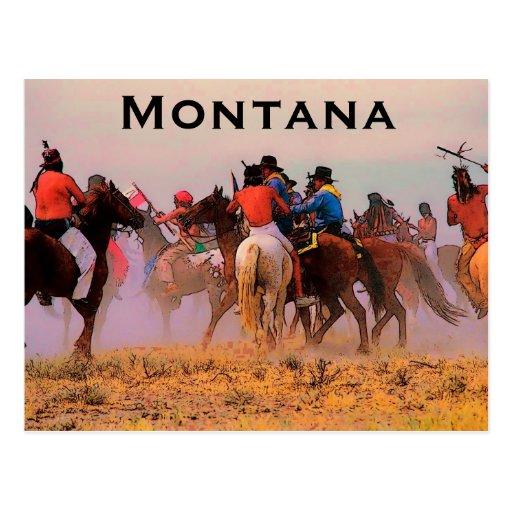Postal de la frontera de Montana