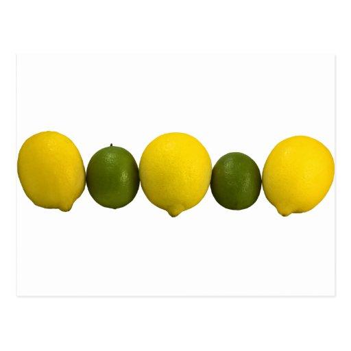 Postal de la fruta cítrica