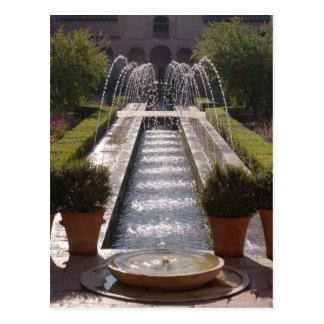 Postal de la fuente de Alhambra