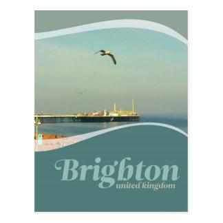 Postal de la gaviota del embarcadero de Brighton
