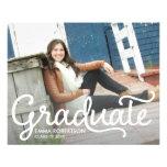 Postal de la graduación flyer personalizado