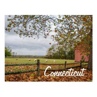 Postal de la granja del país de Connecticut