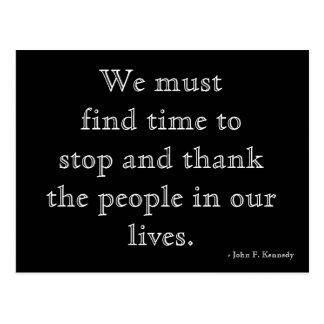 Postal de la gratitud