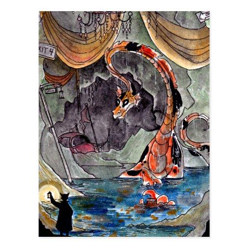 Postal de la guarida del dragón del Goldfish