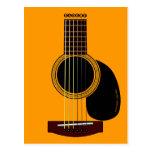postal de la guitarra acústica