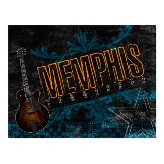 Postal de la guitarra de los azules de Memphis