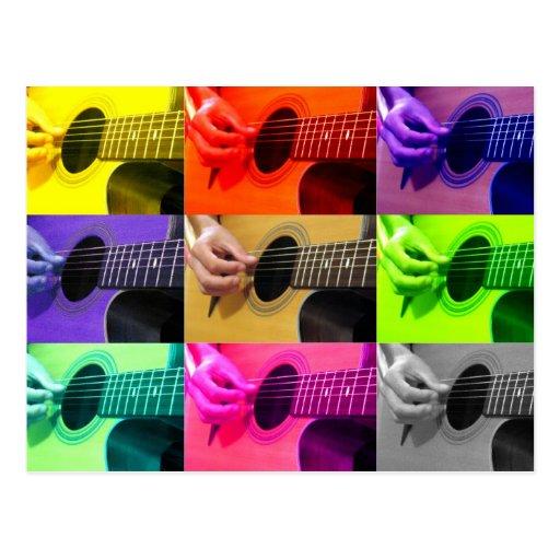 Postal de la guitarra del daltónico