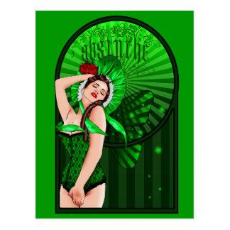 postal de la hada del verde del victorian del ajen