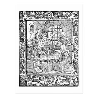 Postal de la historia de la alquimia