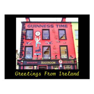 Postal de la hora feliz de Irlanda