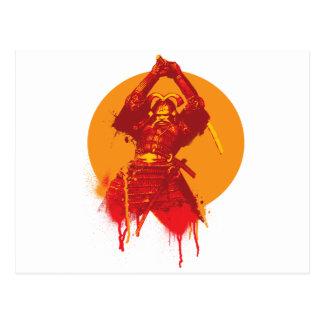 Postal de la huelga del samurai