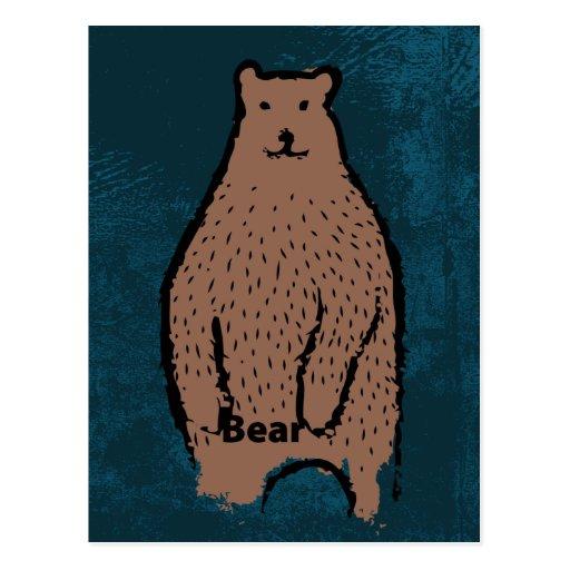 Postal de la identidad del oso