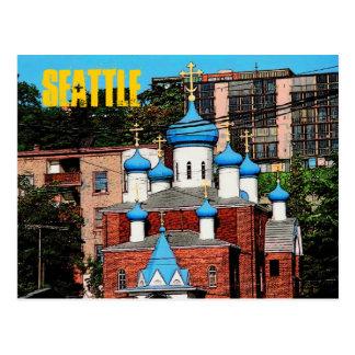 Postal de la iglesia griega de Seattle