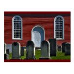 Postal de la iglesia y de la piedra