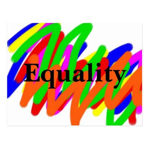 Postal de la igualdad del garabato del arco iris